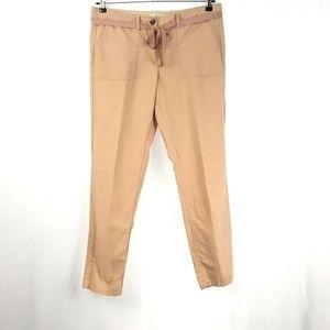 Ann Taylor Loft Pants Linen cotton Boyfriend K1052